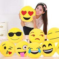Wholesale QQ Emoji Plush Pendant Funny Toys Diameter is cm Emoji Smiley Emotion QQ Emoji Stuffed Plush Doll Toy Plush Toys Pillow and Gifts for Kids
