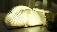 mini book - Recharging flip books creative mini night light LED folding book light literary temperament chandeliers bedside lamps