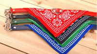 adjustable cat harness - 7Colors Dog Collars Adjustable Pet Dog Cat Bandana Scarf Collar Neckerchief Brand New Mix Colors CM IN STOCK Y79
