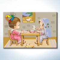Wholesale Baby Dinner DIY Painting Baby Toys Educational x30cm Coloring Canvas Oil Painting Kids Drawing Toys Set for Children with SGS PONY CNAS