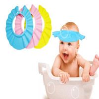 Wholesale Adjustable Baby Hat Toddler Kids Shampoo Bath Bathing Shower Cap Wash Hair Shield Direct Visor Caps For Children Baby Care