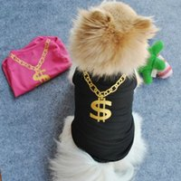 Wholesale Hot Models Spring and Summer Dog Clothes Pet Clothing Dog Summer Mesh Vest Printed Dollar Teddy Clothes