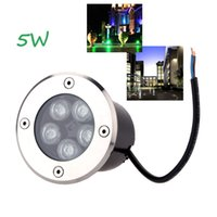 Wholesale 10pcs W Led Underground Light Lamp AC V Led Buried Lamp Outdoor Garden Lamp RGB Warm White Red Blue Green Landscape Lawn Light DHL