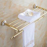 bath shelves - New arrival Luxury Bathroom Accesseries High Quality Chrome Finish Bath Towel Shelves Towel Rack Towel Bar bath hardware ST