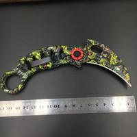 achat en gros de jeux jungle-Outdoor machettes jeu d'outil pliant couteau griffes La magie était la griffe Camping jungle survie Couteau de karambit