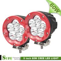 atv cover heavy duty - 2PCS INCH W CREE LED Work Light Off Road Truck Tractor Heavy Duty X4 Car Driving Headlight SUV ATV Combo Beam Cover