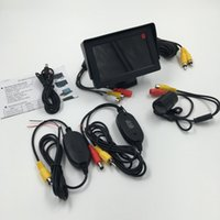 auto rear view camera wireless - High Quality in Auto Parking Assistance inch Monitor Butterfly Car Rear View Camera System Ghz Wireless Camera Kit