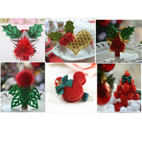 acrylic heart ornaments - 6Pcs New Year Red Christmas Tree Heart Design Hair Clip Barrettes Accessories for Girls Women Hairpins Xmas Hair Ornaments Gift