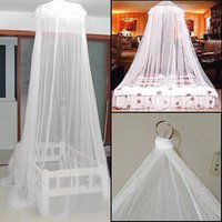 Wholesale hot sale Summer Good Sleeping Graceful Elegant Bed Curtain Netting Canopy Mosquito Net G H16081302