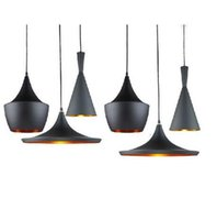 art beat - Tom Dixon Beat choose Tall Fat Wide Pendant Lamp Creative DIY Aluminum Pendant Lights Black White Restaurant Bar Light Ceiling Lights