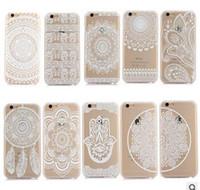 Белых слонов Цены-2016 Хна Белый Цветочные Пейсли цветок Дело Mandala слон Ловец снов Пластиковые PC задняя крышка для iphone 7 6 6S плюс 5S SE