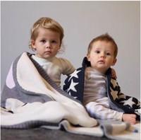 Wholesale baby kids multi layers blanket super soft cartoon knited sleeping blanket for siesta cotton blanket X120cm high quality free ship