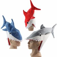 aquarium sharks - Halloween funny originality Aquarium shark piranha fish hat plush toy Stuffed Plush Cap Cosplay Hat for children Adult gift