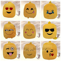 baby kids stuff - Kids Emoji Plush Backpacks Emoji Schoolbags Stuffed Shoulder Bag Emoji Cartoon Book Bag Kindergarten Baby Plush Emoji Backpacks New