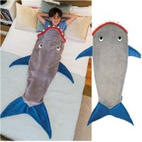 Wholesale M Adult Size New Mermaid Tail Sleeping Blanket Soft Fleece Material Nested Sleeping Bag Cocoon Costume For ChildreN