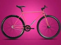 fixed gear - The new Inch variable speed dead fly fluorescent color retro students bicycle bicycle men and women