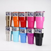 Wholesale YETI Tumbler colors Rambler Cups Yeti Coolers Cup oz Yeti Sports Mugs Large Capacity Stainless Steel Travel Mug Dropshipping