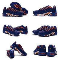 air indigo - Drop Shipping Air Plus TN Indigo Orange Mens Running Shoes Trainers Sneakers Size