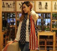 american flag shawl - Chiffon Scarf Fashion Scarves USA Flag Scarf Patriotic Stars and Stripes American flag Scarf for Women Wrap160 cm