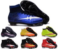Wholesale 2016 Original Superflys CR7 Mercurial Shoes Kid Women Mens Soccer Boots Cleats Laser Children Soccer Shoes zapatos de futbol Football Shoes