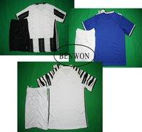 Wholesale Benwon Juventuses away blue soccer sets Pogba Alvaro Morata DYBALA MARCHISIO home men s short sleeve football uniforms sports jersey