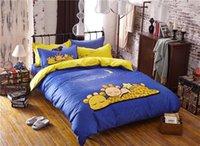 bedding good comforter set - Good night kids cotton cartoon bedding bed linens with moon reactive printing duvet quilt cover bedsheet pc comforter sets