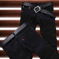 Wholesale New Arrival Hot Sale Fashion Black Straight Leisure amp Casual Brand Jeans Men amp Retail Denim Cotton Men