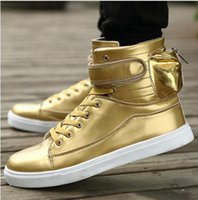 basket femme - New Unisex High Top Casual Shoes Men and Women Zip Solid PU Leather Men Fashion Shoes Zapatos mujer Basket femme Trainers