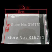 adhesive bag handles - Hot Sale Time limited Plastic Bags with Handle Clear Self Adhesive Seal Plastic Bags x9cm w00889
