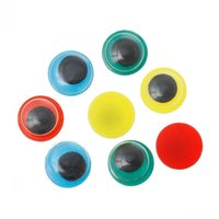 Wholesale Dorabeads Plastic Toy Doll Making Craft Wiggle Eyes Round Flatback Mixed mm quot Dia