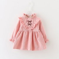 baby product line - Han edition children s wear new winter girl baby cotton long sleeve dress baby princess dress tide fan products