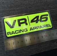 Wholesale 12 cm valentino rossi sticker VR racing apparel vinyl decal motorbike rossi stickers stickers fish