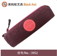 Wholesale More than color stitching small cylinder pen bag stationery bag money pen bag