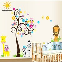 art deco packaging - New Owl Lion Animal Tree Vinyl Wall Stickers For Kids Rooms Baby Children s Room Decal Deco Art Sticker
