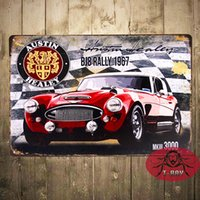 austin healey - Original Metal Signs Co Austin Healey Mk III BJ8 Rally Ad Garage Pub Bar Home Wall Decor