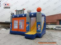 animal house theme - super kids fun house sports theme inflatable bounce jumper combo for sale