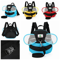 bees wings - Kids Harness Anti Lost Bag Bee Shaped Goldbug Backpack Children Safe Prevent Lost Strap Travel School Bag With Wings Shoulders Bag LJJP179