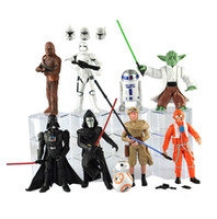 Wholesale set Star Wars Darth Vader Jedi Knight Master Yoda BB Collectible Action Figures PVC Collection toys for christmas gift