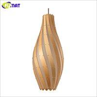 art deco bowl - Creative Wooden Bowling Lamp Acrylic Loft Brief E27 Pendant Lamp Restaurant Bar Kitchen Suspension Lamp Project Luminaria