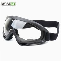 Wholesale WOSAWE UV Protection Sports Ski Snowboard Skate Goggles Glasses Outdoor Motorcycle Ski Goggle Glasses Eyewear Lens Black