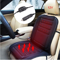 Wholesale Auto Heat Heating Warmer Pad Winter Car Heated Seat Cover Cushion V Black white Optional CDE_008