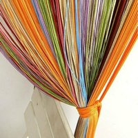 wall dividers - Window Door Wall Panel Divider Strip Tassel Colorful Line String Curtain