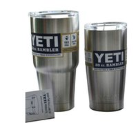 Wholesale YETI YETI oz Cup Cooler YETI Rambler Tumbler For Travel Vehicle Beer YETI Mug Tumblerful Bilayer Vacuum Insulated Stainless Steel