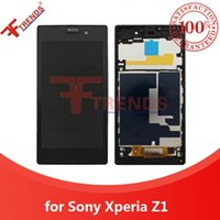 best wholsale - Best Quality A for Sony Xperia Z1 LCD Display Touch Screen Digitizer with Front Housing Frame Assembly Black L39 L39H C6902 Wholsale