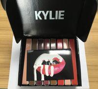 Wholesale Drop Ship Kylie Lip Kit by kylie jenner Velvetine Liquid Matte Lipstick Lip Pencil Lip Gloss colors In Black Box