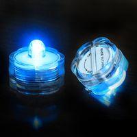 El envío libre impermeabiliza las luces sin llama del resplandor subacuático de Tealight del LED ligero que funcionan con batería Wedding la decoración de Navidad de la fiesta de cumpleaños
