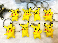 Wholesale Hot Sale Styles D Pocket Monster Keychain PVC Rubber Keychains Moive Cartoon Key Ring For Christmas Gift