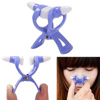 Wholesale 120pcs Quality Blue Magic Nose Reshaper Beauty Tool Nose UP Lifting Shaping Clip Clipper Shapen High Nose Bridge No Pain