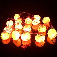 ac power flash - Halloween LED pumpkin string light colors ghost string for home decoration V or battery power supply feet lights