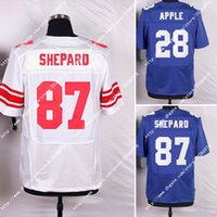 apple sweatshirts - NWT York NIK Elite NY Giants Sterling Shepard Eli Apple Jenkins Men Stitched Embroidery Logos America Football Jerseys Sweatshirts